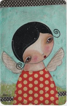 paint party angels on canvas | This is a new painting I finished today. She has just been posted on ...