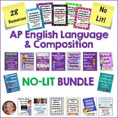 This AP English Language & Composition bundle is for the first-time instructor or seasoned teacher who needs to shake things up a bit. It contains 496  pages of AP Language and Composition resources (28 of my AP products!). Priced individually, the value of these products is $112.00, so the  BUYER SAVES $20 WITH THE BUNDLE!