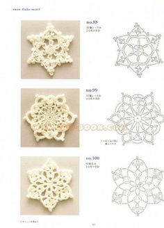 Ondori motif edging designs - Annie Mendoza - Picasa Web Albums--booklet of charts for snowflakesOndori motif and edging designs Crochet squares, triangles, circles, flowers…arts and craft books: motif & edging designs magazine, free crochet books Crochet Snowflake Pattern, Crochet Stars, Crochet Motifs, Crochet Snowflakes, Granny Square Crochet Pattern, Crochet Flower Patterns, Crochet Diagram, Crochet Doilies, Crochet Flowers