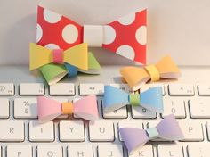 3D paper bow template free download