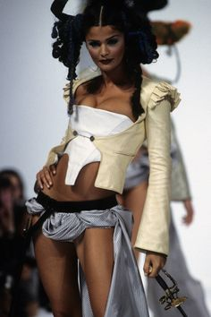 John Galliano Spring 1993 Ready-to-Wear Fashion Show - Helena Christensen