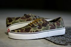 #vans authentic #camouflage #sneakers