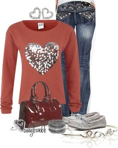 """Heart Contest 1"" by amybwebb on Polyvore.  Wish I had this to wear this weekend...so cute!!!"