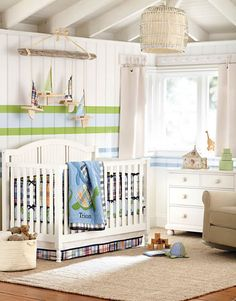 Pottery Barn Kids - nursery idea for a boy. Though a little more turtles, and a little less plaid