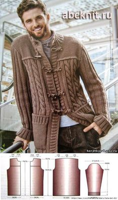Мужской кардиган - пуловера.свитера.джемпера - вязание для мужчин. - Каталог файлов - вязание-это модно.