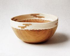 Small White & Tea Copabu Bowl