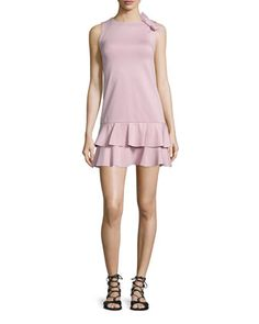 Ruffled Dress W/Side-Bow Detail, Lilac by RED Valentino at Neiman Marcus.