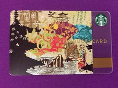 Japan card Starbucks, Japan, Cover, Cards, Okinawa Japan, Maps, Blankets, Playing Cards