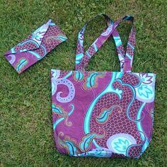 Sac de plage en pagne avec sa trousse Diaper Bag, Creations, Reusable Tote Bags, Fabric, Bag, Diaper Bags, Nappy Bags