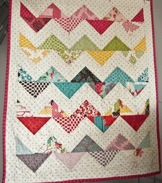 Loving the look of zig zag quilts lately!
