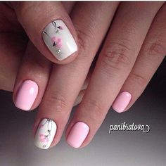 Nails floral 50 Beautiful Floral Nail Designs For Spring - Page 30 of 50 50 Beautiful Floral Nail Designs For Spring - Page 30 of 50 - Chic Hostess Nail Designs Spring, Cool Nail Designs, Spring Nails, Summer Nails, Nagel Gel, Flower Nails, Creative Nails, Perfect Nails, Toe Nails