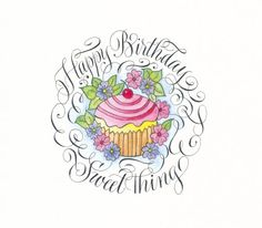 ┌ⅲii┐ Happy Birthday with cupcake Happy Birthday Cupcakes, Happy Birthday Girls, Happy Birthday Wishes, Birthday Greetings, It's Your Birthday, Birthday Celebration, Birthday Clips, Birthday Posts, Birthday Images