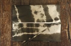 Leather Tie Dye Clutch