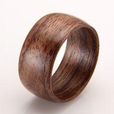 Walnut ring. Custom Designs.