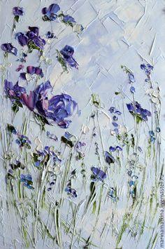 Фиолетовая голубая с