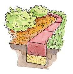 How to install brick edging in your garden: Learn to install classic brick garden edging—it's easy to maintain and looks beautiful!