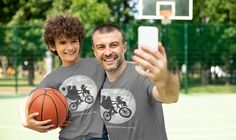 Men's Father's Day Shirt Bicycle T Shirt Matching Tee Bike Over Moon Hipster Son Daughter Dream Best Dads Dinosaur Geek Gift Idea Man Unisex Garment Bags, Fathers Day Shirts, Matching Shirts, Geek Gifts, Lady V, Best Dad, Birthday Shirts, Idea Man, Dads