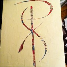 Painting I did for mom. It's a Chi Rho. :)