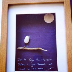 Dare To... Pebble Art by leeleefallsalot on Etsy