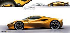 Ferrari 488 GTB Design Sketch