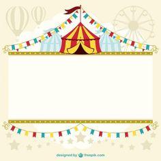 Template design tenda de circo Vetor grátis