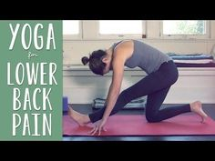 Yoga For Lower Back Pain - I keep all my tension in my upper back and I feel like a new person after this quick routine.