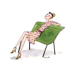 My Little Paris, Kanako illustration Illustration Parisienne, Paris Illustration, Cute Illustration, Girl Illustrations, French Illustration, Paris Images, Paris Pictures, Oscar Wilde, Seals And Crofts