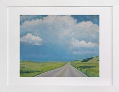 """Montana Back Road by Catherine Freshley at minted.com get a 40""""x30"""" to hang over horizontal dresser or something a little smaller to hang near chair and floor lamp."""