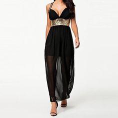 ccc5b3cac03c Γυναικεία Φόρεμα Βαθύ V Τιράντες Ως το Γόνατο Αμάνικο Πολυεστέρας – USD    27.99 Κοκτέιλ