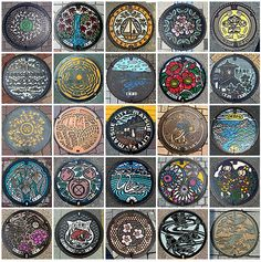 Colorfully Painted Manhole Covers from Japan