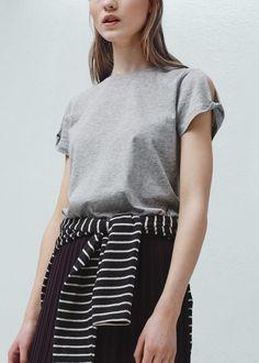 T-shirt algodão modal | MANGO