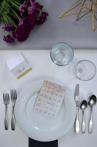 Wedding Bingo: This wedding reception game is a great way to entertain your guests. This bingo game set includes 50 cards and is for weddings between a bride and groom.