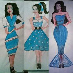 More than one year ago.. #draw #paint #drawing #painting #blue #girl #fashion #moda #mode #fashiondesing #fashiondesigner #design #designer #illustration #fashionillustration #style #stylist #blackhair