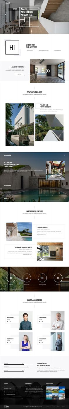 Aalto is clean and modern design responsive #WordPress theme for creative #Architecture and #interior design agency website with 12 different homepage layouts to live preview & download click on Visit