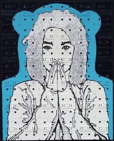 Bjork Album Cover  Cassette tape art by Sami Havia
