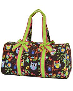 Lar Lar Quilted Owl Print Large 21' Duffle Bag * Quickly view this special  product, click the image : Christmas Luggage and Travel Gear