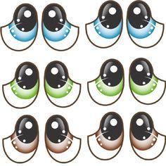 Doll Face Paint, Eye Stickers, Kawaii Faces, Polymer Clay Figures, Puppet Making, Crafts For Seniors, Cartoon Faces, Maneki Neko, Cute Animal Drawings