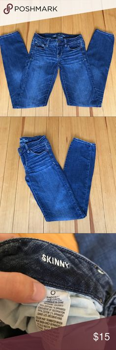 American Eagle Outfitters Skinny Jeans American Eagle Outfitters Skinny Jeans. Size 0. EUC! Retails: $49.99. Offers are welcome! American Eagle Outfitters Jeans Skinny