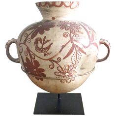 19th Century Mexican Olla   From a unique collection of antique and modern ceramics at http://www.1stdibs.com/furniture/folk-art/ceramics/