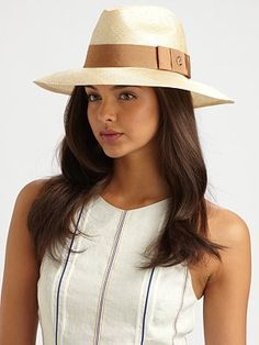 Gucci Gros Grain-Trimmed Straw Hat ♥ this hat-have to get this!!