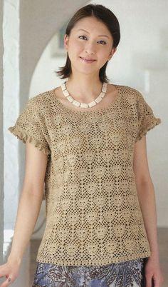 Crochet blouse — Crochet by Yana