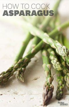 Pick up a bunch of asparagus from the farmer's market or grocery store, and use this cooking guide to roast, steam, simmer, grill, or microwave the spears to perfection.