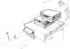 Ich stellte mir die Aufgabe, ein Haus in Hanglage zu skizzieren, es dreidimensional zu modellieren und im Anschluss ein Modell anzufertigen. Die Garage ist in den Hang hineingesetzt und darauf sind die einzelnen Stockwerke aufgebaut. Wichtig ist es dabei,…