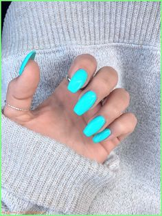 it] 36 Summer Nails for a Full Send! [Send it] 36 Summer Nails for a Full Send! - [Send it] 36 Summer Nails for a Full Send! Teal Nails, Aycrlic Nails, Hair And Nails, Tiffany Blue Nails, Turquoise Acrylic Nails, Coffin Nails, Black Nails, Turquoise Nail Designs, Matte Purple Nails