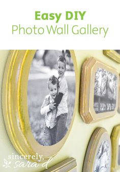 It is easy to make a similar gallery wall for your home by using Mod Podge and decorative pieces of wood! Unique and affordable, this awesome craft will have a big impact in your home.
