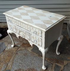 French stenciled petite sideboard French. A bit too much for me, but maybe just sides or top?
