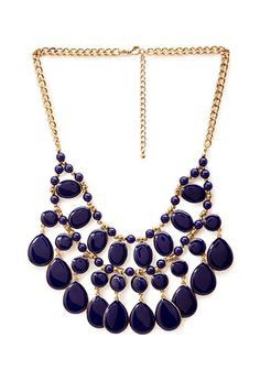 Teardrop Beaded Necklace   Forever21 - 1000102933
