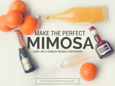 Learn How to Make the Perfect Mimosa! #SundayBrunch