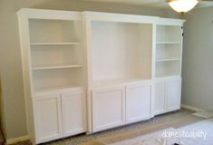 DIY media center - Love this!! but i need to custom one for a mini fridge and microwave and two tv ugh and 100-150 movie