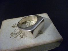 A lovely vintage signet ring - 925 - sterling silver - Full UK Hallmark - UK L - US 5.75 by MalvernJewellery on Etsy